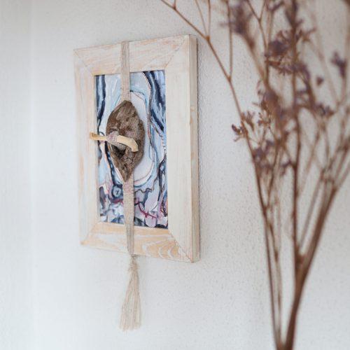 mixed media kunst met natuurlijke materialen