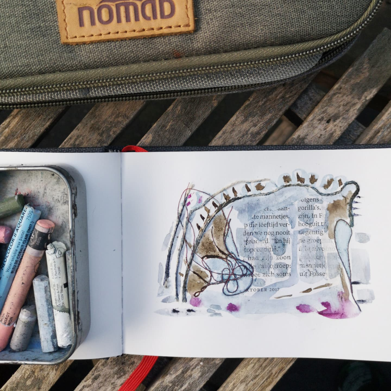 abstracte schets schetsboek natuur